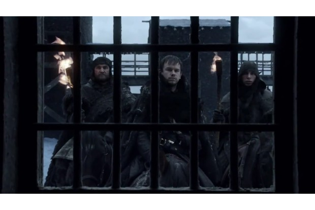 Ostlere in the very first shot of Game of Thrones' first episode (HBO)