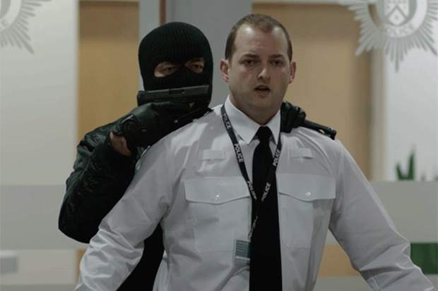 Balaclava man in Line of Duty, BBC iPlayer