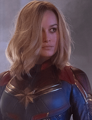 Brie Larson in Captain Marvel (Marvel Studios)