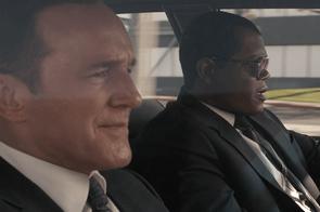 Clark Gregg and Samuel L Jackson in Captain Marvel (Marvel Studios)