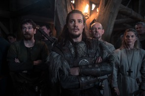 The Last Kingdom - Photographer: Des Willie © Carnival Film & Television Limited 2017 Gerard Kearns (as Halig), Alexander Dreymon (as Uhtred) , Ian Hart (as Beocca) Eva Birthistle (as Hild)
