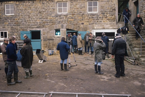 Filming on set of British television soap opera Emmerdale (Getty)