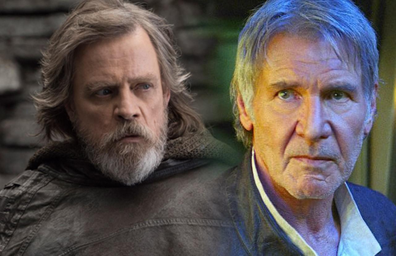 Han solo Luke skywalker mark hamill harrison ford