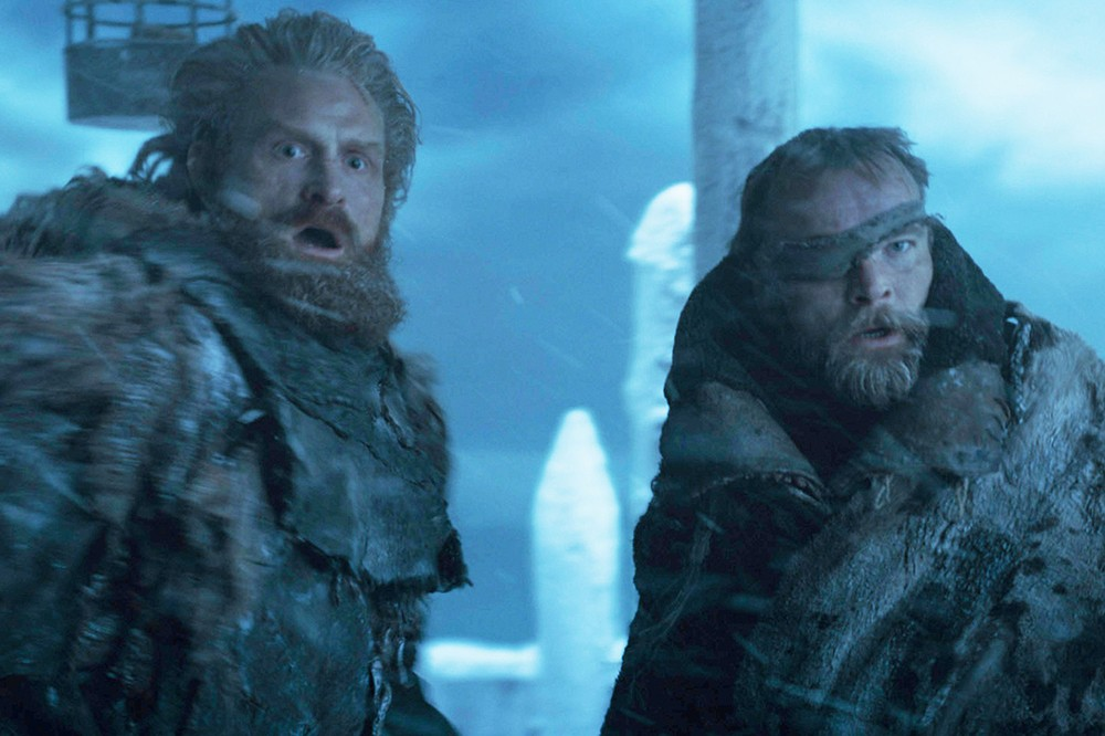 Kristopher Hivju as Tormund and Richard Dormer as Beric in Game of Thrones (HBO)