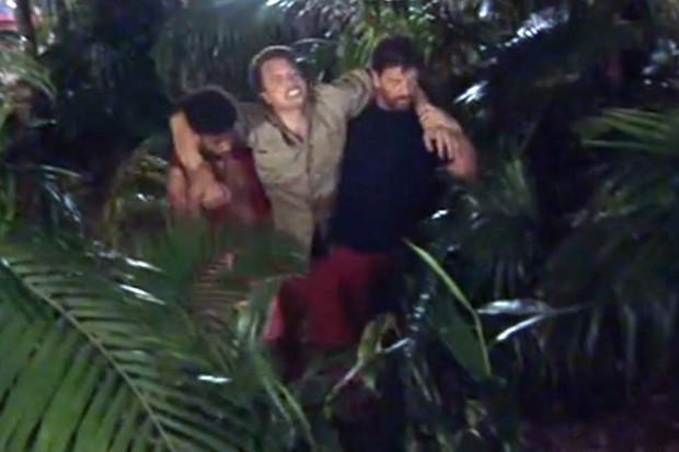 John Barrowman sprained ankle, I'm a Celeb (ITV screenshot)