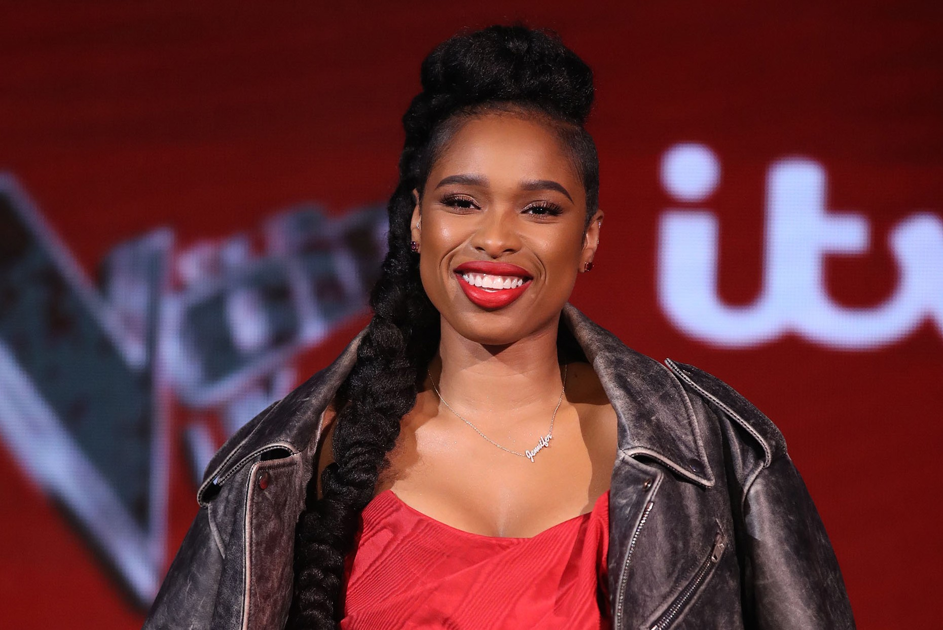 BOREHAMWOOD, ENGLAND - APRIL 05:  Jennifer Hudson attends the pre-final event for 'The Voice' at Elstree Studios on April 5, 2018 in Borehamwood, England.  (Photo by Mike Marsland/Mike Marsland/WireImage)