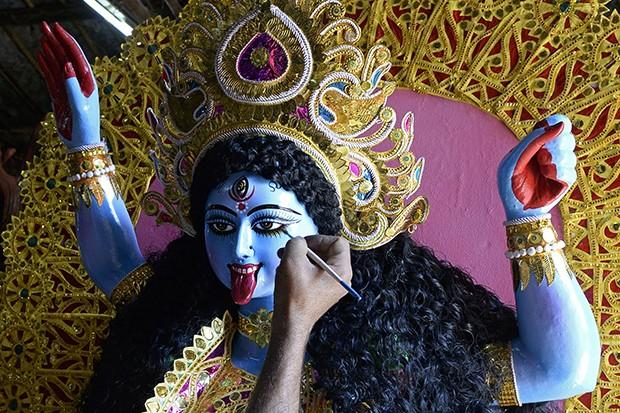 The Hindu goddess Kali