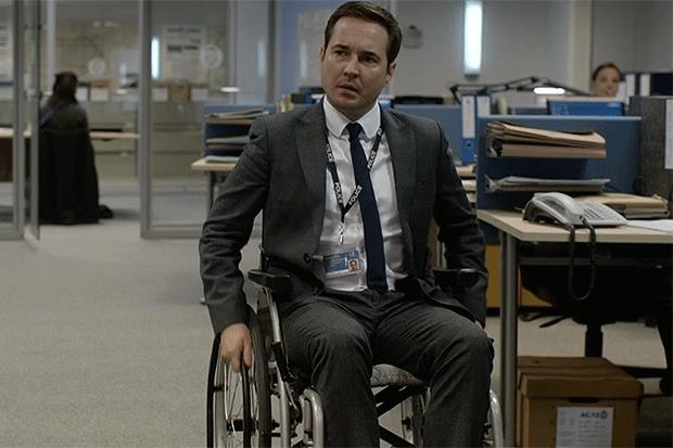 Martin Compston as Steve Arnott in Line of Duty, BBC iPlayer