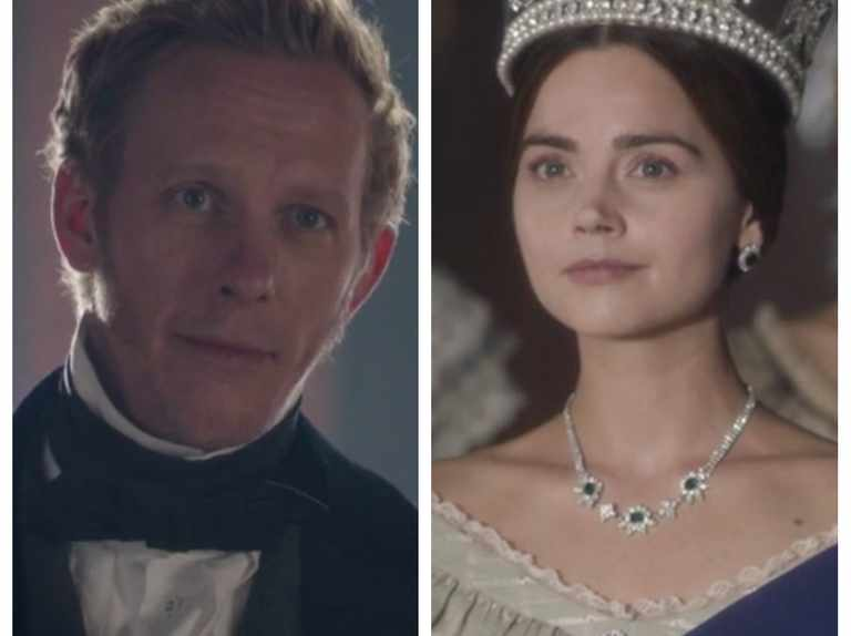 Jenna Coleman's Queen Victoria clashes with Laurence Fox's Lord Palmerston in clip from Victoria series 3