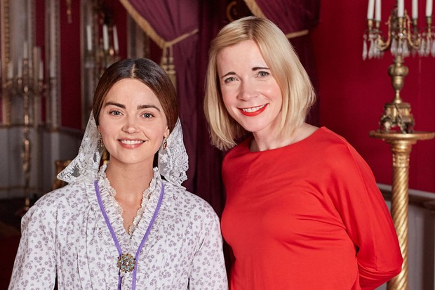 Lucy Worsley meets Jenna Coleman, who plays Victoria (Justin Slee for Radio Times)
