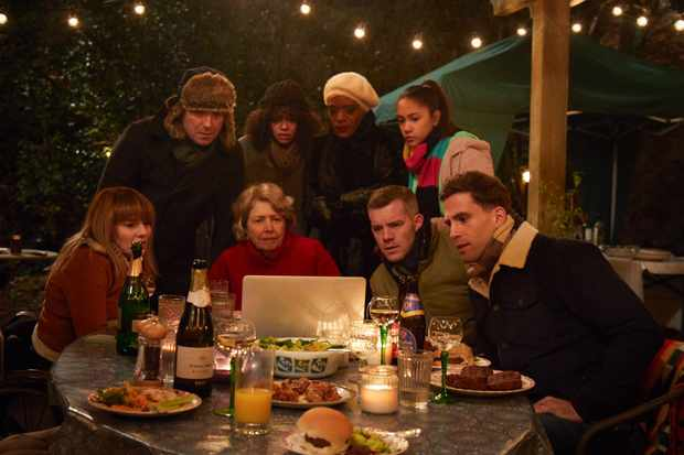 Programme Name: Years and Years - TX: n/a - Episode: Years and Years episode 1 (No. n/a) - Picture Shows: (L-R) Rosie (RUTH MADELEY), Stephen (RORY KINNEAR), Muriel (ANNE REID), Bethany (LYDIA WEST), Celeste (T'NIA MILLER), Ruby (JADE ALLEYNE), Daniel (RUSSELL TOVEY), Ralph (DINO FETSCHER) - (C) Red Production - Photographer: Guy Farrow