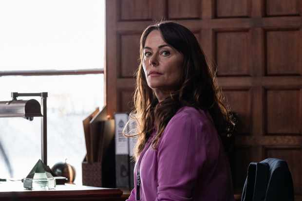 Gill Biggeloe (Polly Walker) in Line of Duty series five (BBC/World Productions)