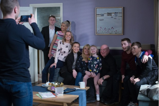 "The Mitchells are one big ""happy"" family! (Picture: BBC)"