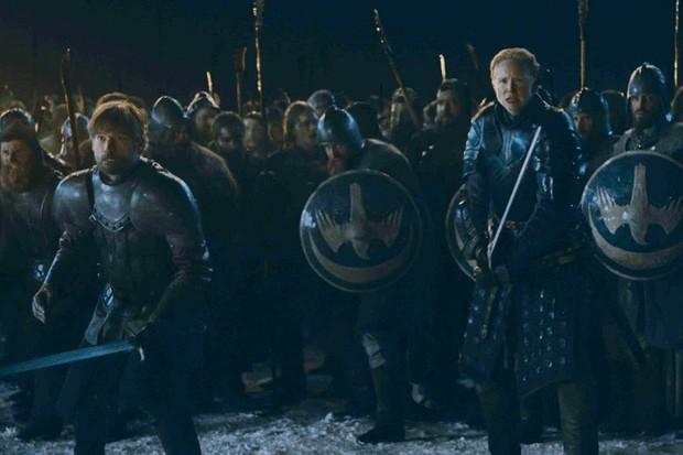 Gwendoline Christie and Nikolaj Coster-Waldau in Game of Thrones (HBO)