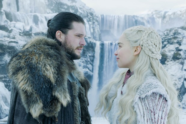 Kit Harington and Emilia Clarke in Game of Thrones season 8 (HBO)