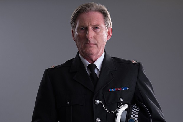 Adrian Dunbar plays Supt. Ted Hastings in Line of Duty