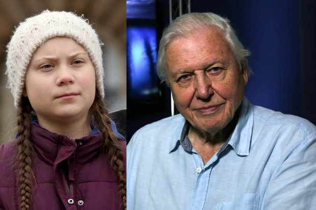 Schoo climate change activist Greta Thunberg joins David Attenborough for new documentary Climate Change: The Facts (Getty/BBC)