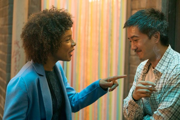 Tessa Kendrick (Sophie Okonedo) and Zhang Lin (Terry Chen) in Chimerica (Channel 4)