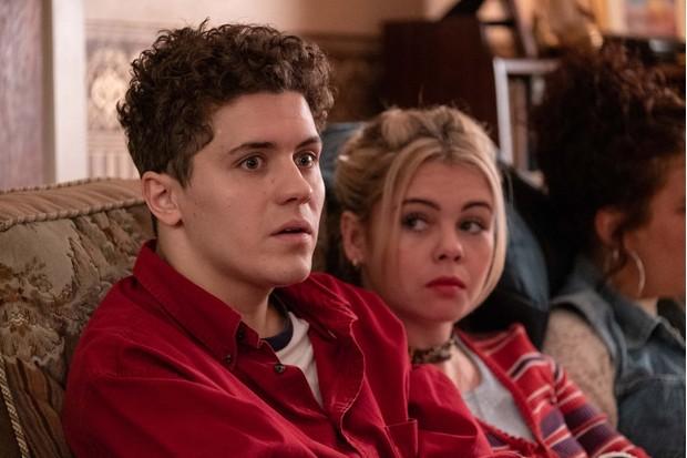 l-r: James Maguire (Dylan Llewellyn), Erin Quinn (Saoirse Monica Jackson)