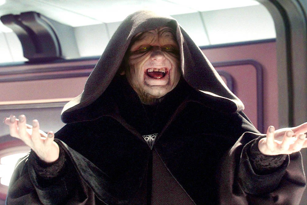 Star Wars Episode III - Revenge Of The Sith starring Ian McDiarmid as Supreme Chancellor Palpatine (LucasFilm, Sky)