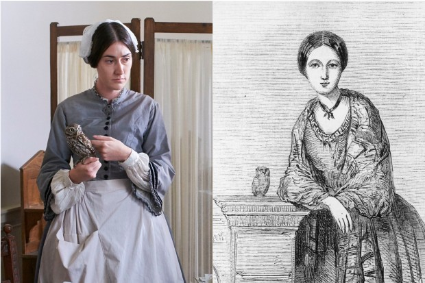 Florence Nightingale with her owl