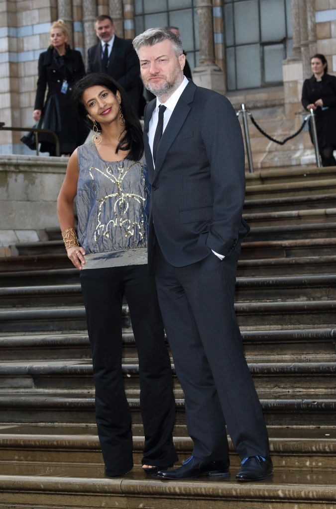 LONDON, UNITED KINGDOM - 2019/04/04: Konnie Huq and Charlie Brooker arrives for the World Premiere of Netflix's Our Planet at the Natural History Museum, Kensington. (Photo by Keith Mayhew/SOPA Images/LightRocket via Getty Images)