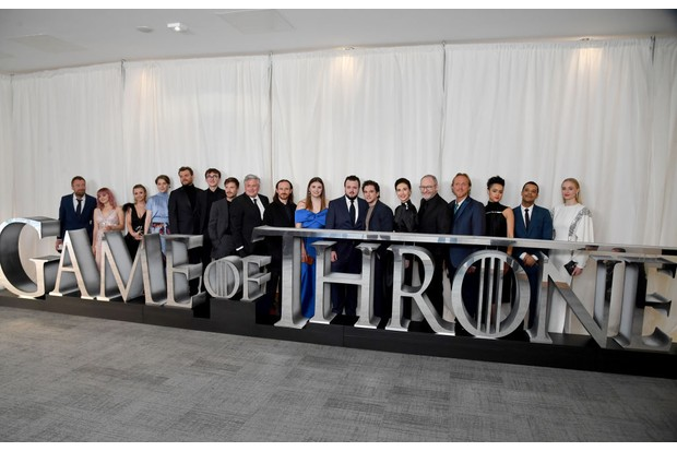 The cast of Game of Thrones at the Belfast premiere (Getty)