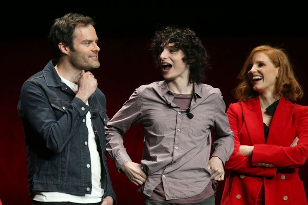 "Cast and crew of ""It: Chapter Two"" speaks onstage at CinemaCon 2019 Warner Bros (Getty)"