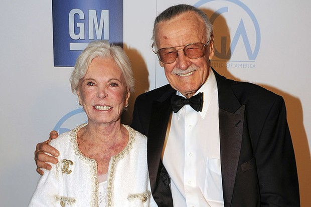 Stan and Joan Lee in 2012 (Getty)