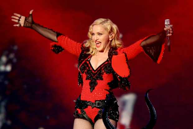 LOS ANGELES, CA - FEBRUARY 08:  Singer/songwriter Madonna performs onstage during The 57th Annual GRAMMY Awards at STAPLES Center on February 8, 2015 in Los Angeles, California.  (Photo by Michael Tran/FilmMagic)