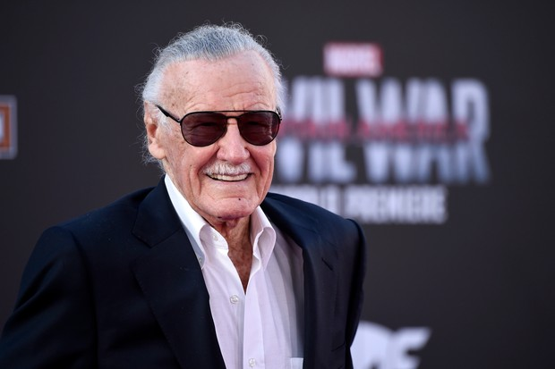 "LOS ANGELES, CALIFORNIA - APRIL 12: Stan Lee attends the premiere of Marvel's ""Captain America: Civil War"" at Dolby Theatre on April 12, 2016 in Los Angeles, California. (Photo by Frazer Harrison/Getty Images)"