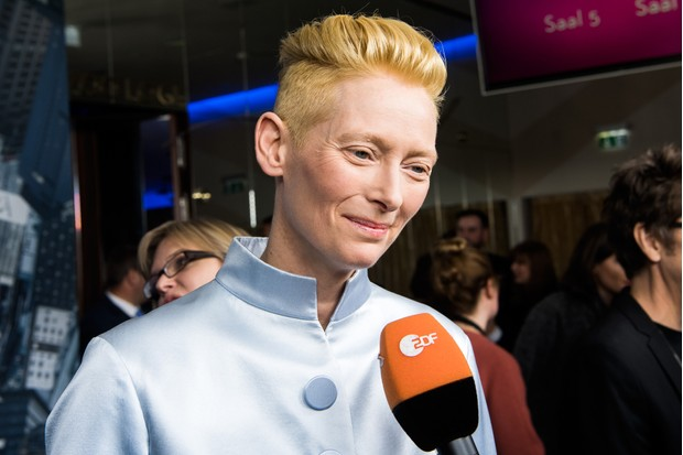 BERLIN, GERMANY - OCTOBER 26: Tilda Swinton attends the 'Doctor Strange' fan event at Zoo Palast on October 26, 2016 in Berlin, Germany. (Photo by Matthias Nareyek/Getty Images)