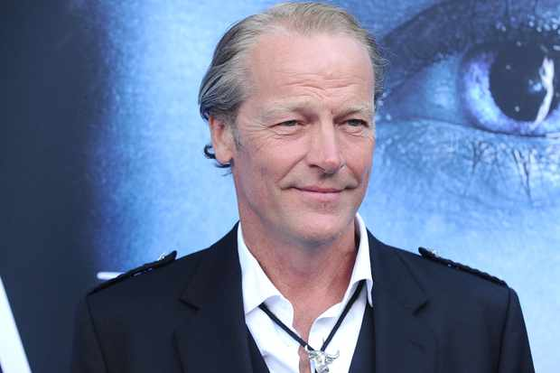 "LOS ANGELES, CA - JULY 12:  Actor Iain Glen attends the season 7 premiere of ""Game Of Thrones"" at Walt Disney Concert Hall on July 12, 2017 in Los Angeles, California.  (Photo by Jason LaVeris/FilmMagic)"