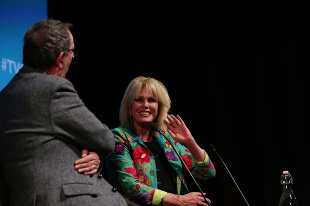 Richard Coles and Joanna Lumley at the Q&A for 'The Radio Times Hall Of Fame' at the BFI & Radio Times Television Festival