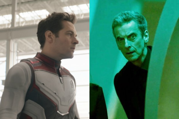 Paul Rudd in Avengers: Endgame and Peter Capaldi in Doctor Who: Time Heist (Marvel, BBC)
