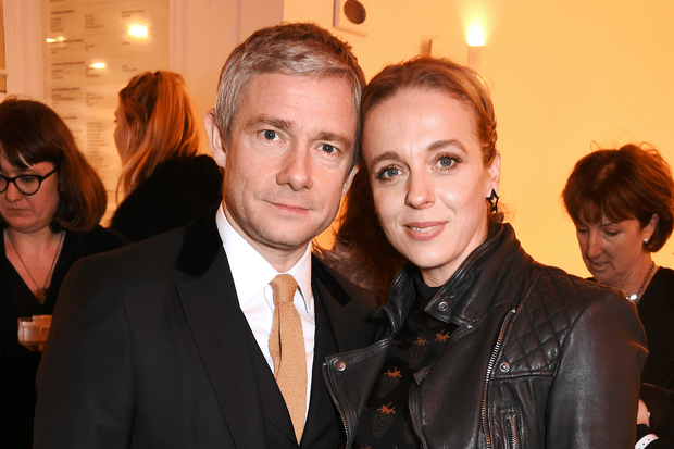 Martin Freeman and Amanda Abbington (Getty)