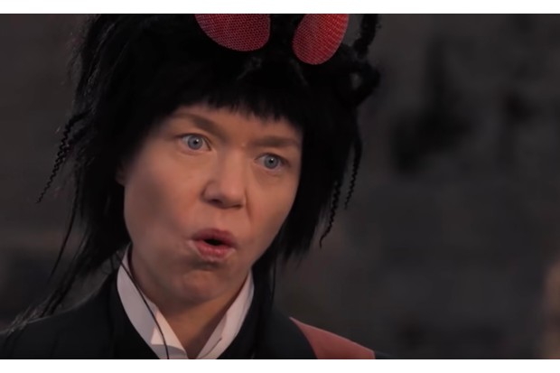 Anna Maxwell Martin in the new trailer for Good Omens (Amazon/YouTube)