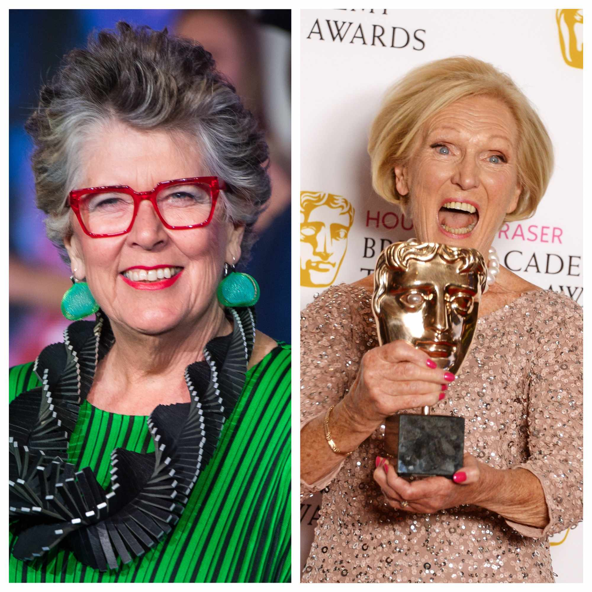 Great British Bake Off Prue Leith Mary berry (Getty)