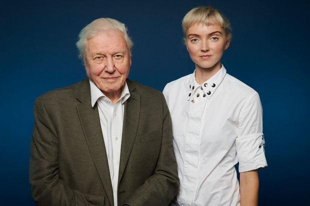 David Attenborough and Lily Cole (Ray Burmiston for Radio Times)