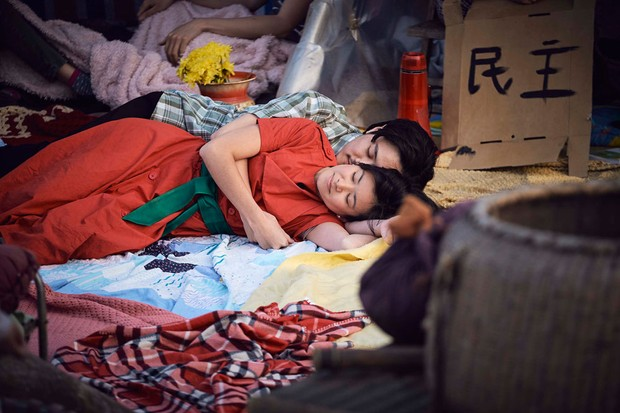 Liuli (Katie Leung) and Young Zhang Lin (Jay Yu) in Chimerica (Channel 4)