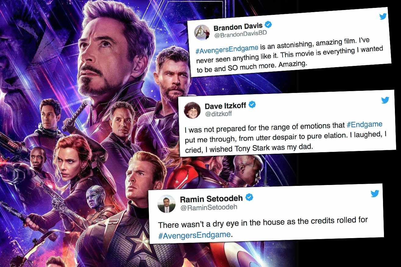 Endgame reaction twitter