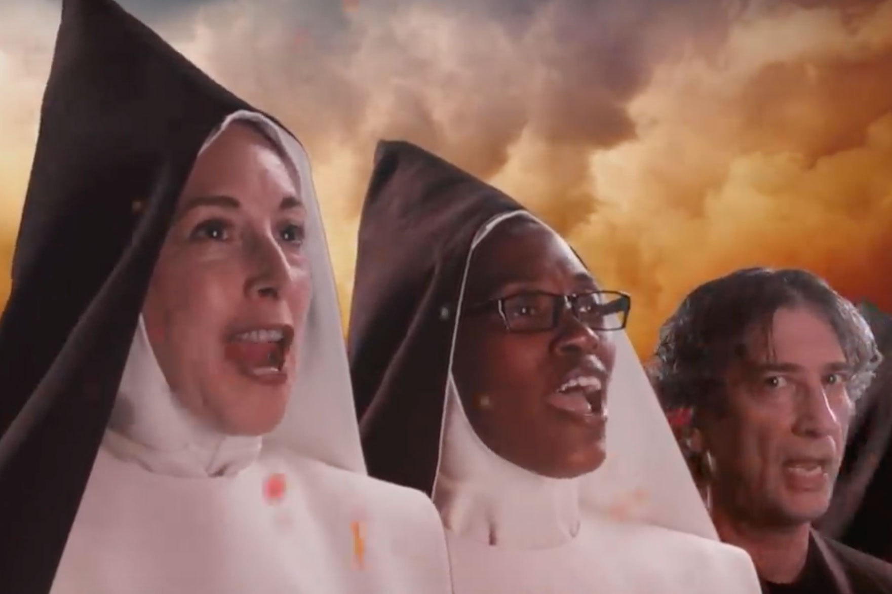 Good Omens The Chattering Order of St. Beryl (screenshot, FC)