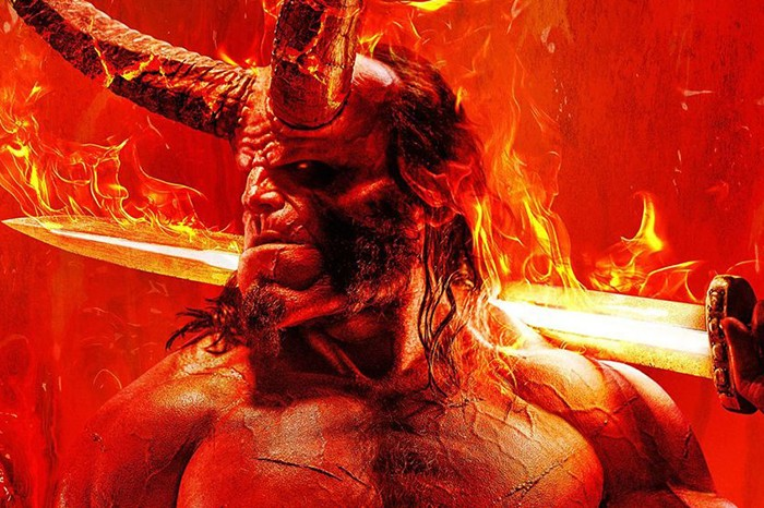A poster for David Harbour's Hellboy (Lionsgate)