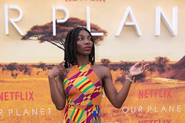 Netflix's Our Planet Royal World Premiere, London, April 2019. (L-R) Michaela Coel