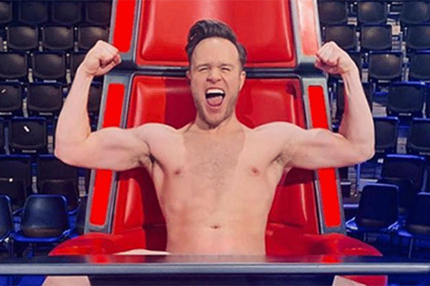 Olly Murs poses naked on The Voice, @ollymurs Instagram