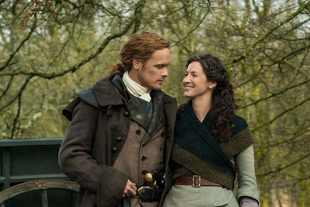 Outlander Sam Heughan and Caitriona Balfe were auditioned together in what is known as a 'chemistry read' (STARZ)