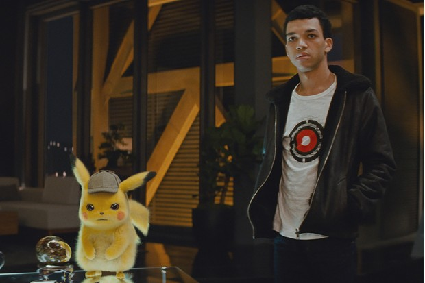 Ryan Reynolds' Pikachu and Justice Smith's Tim in Detective Pikachu (WB)