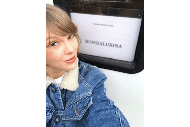 Taylor Swift on the set of Cats