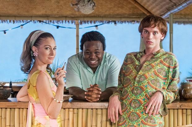 Kelly MacDonald as Princess Margaret & Jamie Campbell-Bower as Mick Jagger (Urban Myths, Sky Arts)