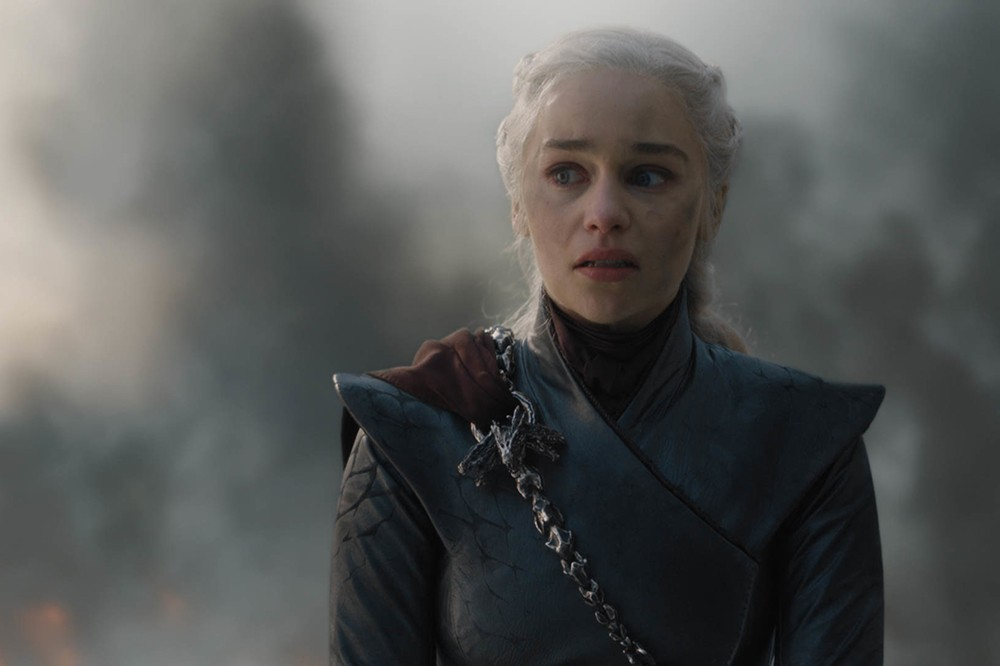 Emilia Clarke as Daenerys Targaryen in Game of Thrones season 8 (HBO)